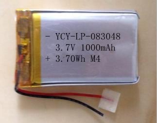 YCY-LP-083048 3.7V 1000mAh