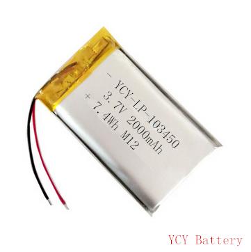 空气检测仪电池YCY-LP-103450 3.7V 2000mAh