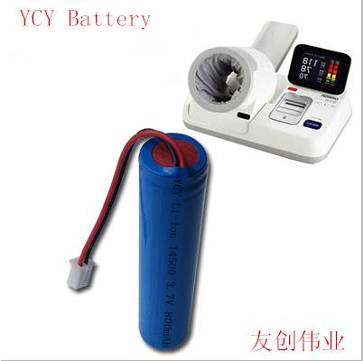 血压计锂电池YCY Li-ion 14500 3.7V 800mAh
