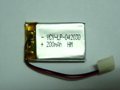 美容仪电池YCY-LP-042030 3.7V 200mAh