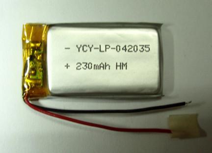 北斗GPS定位器电池YCY-LP-042035 3.7V 230mAh