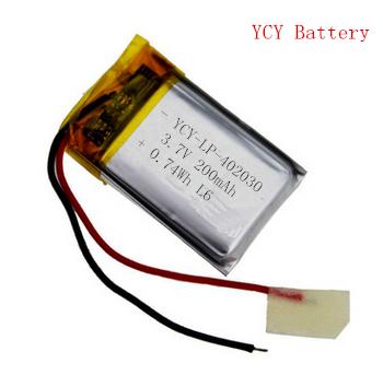 美容仪软包电池YCY-LP-402030 3.7V 200mAh
