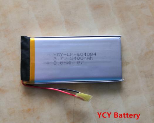 医疗设备电池YCY-LP-604084 3.7V 2400mAh