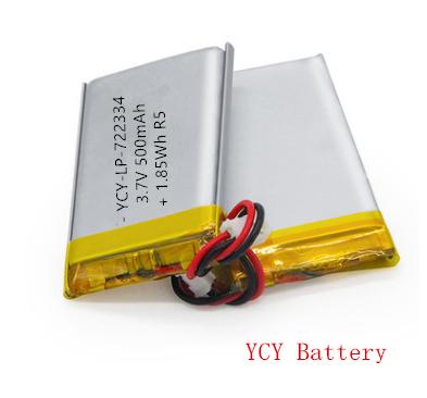 无线蓝牙耳机电池YCY-LP-722334 3.7V 500mAh